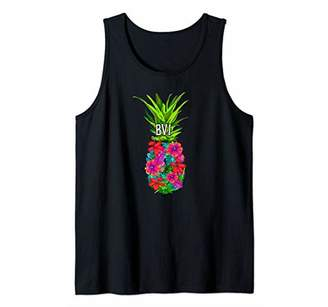 BVI Tropical Pineapple Flower Vacation product Tank Top