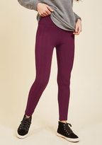 Heed Your Warming Fleece-Lined Leggings in Textured Berry in L/XL