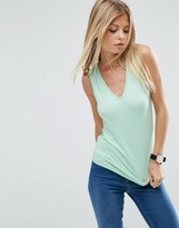 Asos Tank with V-Neck and Panel Detail