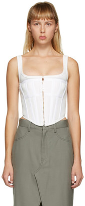 Dion Lee White Jersey Corset