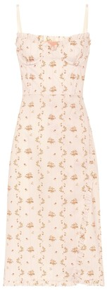 Brock Collection Osanna floral cotton bustier dress