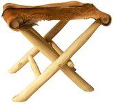 Jeffan Decorative Brown Rustic Round Teak Log Dining Table Base