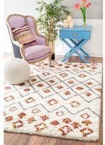 nuLoom Sot and Plush Moroccan Variations Rainbow Trellis Shag Multi Rug (8' x 10')