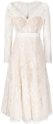 Alexander McQueen Embroidered Midi Dress
