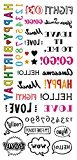 Body Art Temporary Removable Tattoo Stickers Letters Sticker Tattoo - FashionDancing