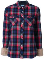 GUILD PRIME chest pockets checked shirt