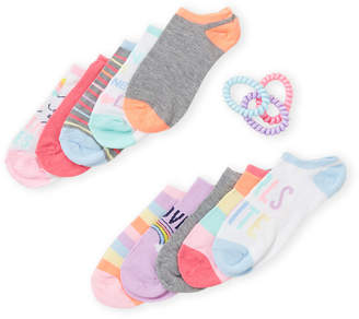 Capelli New York (Girls 4-6x) 10-Pack Assorted No Show Socks