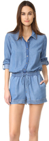 Splendid Blocked Indigo Romper
