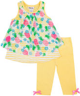 Little Lass Pineapple Tank Top and Leggings Set - Preschool Girls 4-6x