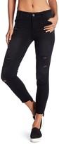 Jolt Distressed Elasticized Waist Skinny Jeans (Juniors)