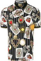 Dolce & Gabbana cards printed polo shirt