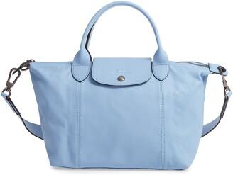 Longchamp Small Le Pliage Cuir Leather Shoulder Bag