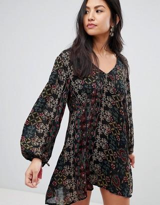 Raga Yasmin Printed Long Sleeved Dress