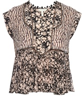 Rebecca Taylor Floral-print silk-crepe top
