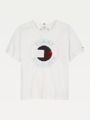 Tommy Hilfiger Organic Cotton Flip Sequin T-Shirt