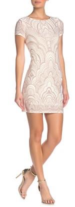 Jump Glitter Short Sleeve Bodycon Dress