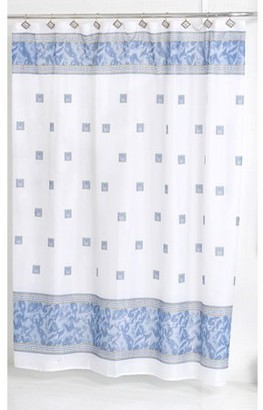 """Carnation Home Fashions Windsor"""" Fabric Shower Curtain in Slate"""