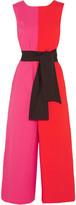 Isa Arfen Color-block Stretch-cotton Poplin Jumpsuit - Pink