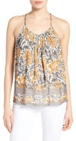 Lucky Brand Women's Floral Pleated Racerback Tank