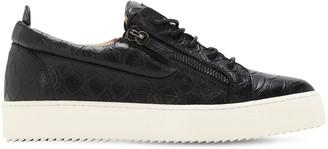 Giuseppe Zanotti Koi Print Leather Low-Top Sneakers