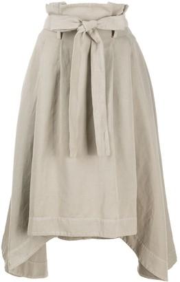 Stefano Mortari Paperbag-Waist Draped Skirt