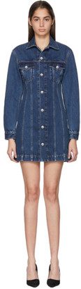 Helmut Lang Blue Femme Trucker Shirt Dress