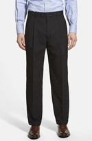 Linea Naturale Men's Pleated Wool Dress Pants