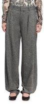 Chloé Tweed Pleated Wide-Leg Pants