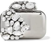Jimmy Choo Cloud Crystal-embellished Metal Clutch - Silver