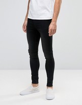Cheap Monday Jeans Mid Spray Extreme SuperStretch Skinny Fit Black Sin