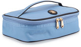 Neiman Marcus Zip-Around Nylon Makeup Train Travel Bag, Periwinkle