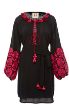 Figue Midnight Coco Embroidered Dress