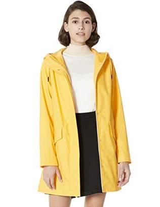 Otterline Women's Rain Coat Lightweight Hooded Long Raincoat Outdoor Rain Jackets Purple M