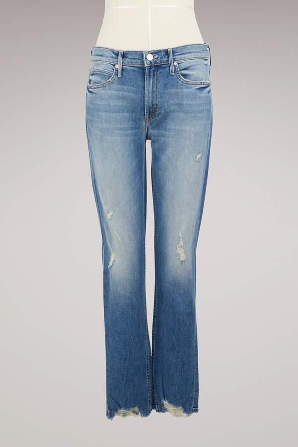 Mother The Flirt Fray Jeans