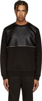 McQ by Alexander McQueen Black Leather Zip Pullover