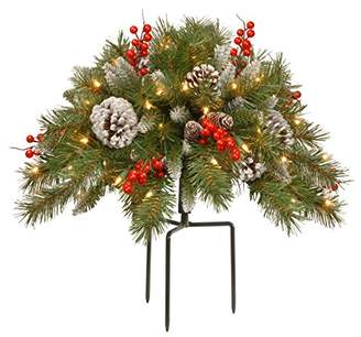 National Tree 18 Inch Frosted Berry Urn Filler with Cones