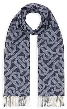 Burberry Women's Reversible Check and Monogram Cashmere Scarf