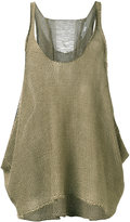Stella McCartney distressed knit vest - women - Linen/Flax - 40