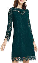 Oasis Long Length Lace Shift Dress, Turquoise