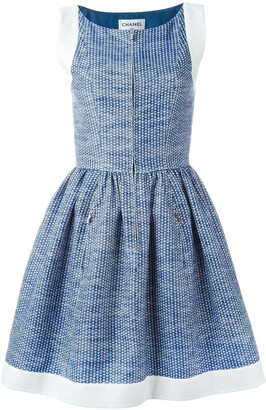 Chanel Pre Owned pleated A-line dress