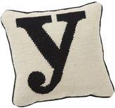 Alphabet Needlepoint Pillow, Y