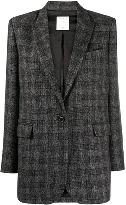 Sandro Dom check-pattern blazer