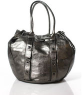 Calypso Pewter Leather Tote Handbag RHB11