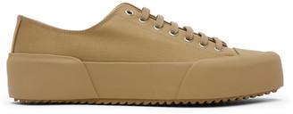 Jil Sander Tan Canvas Sneakers