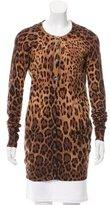 Dolce & Gabbana Long Sleeve Leopard Print Cardigan