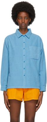 ERL Blue Corduroy Shirt