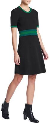 Marcs Scallop Trim Knit Dress