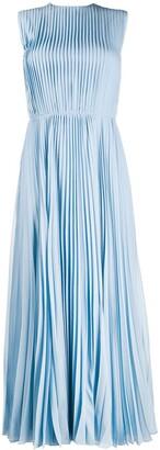 Emilio Pucci Accordion Pleat Long Dress