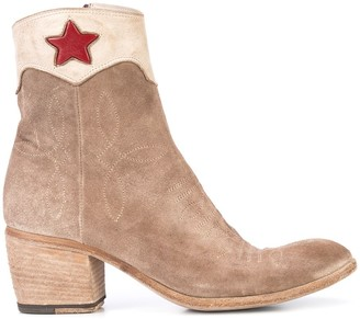Fauzian Jeunesse' Red Star Ankle Boots