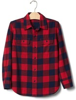 Gap Buffalo plaid button shirt